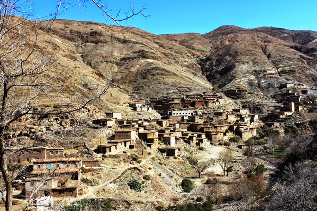 Village in the Atlas mountains, Morocco