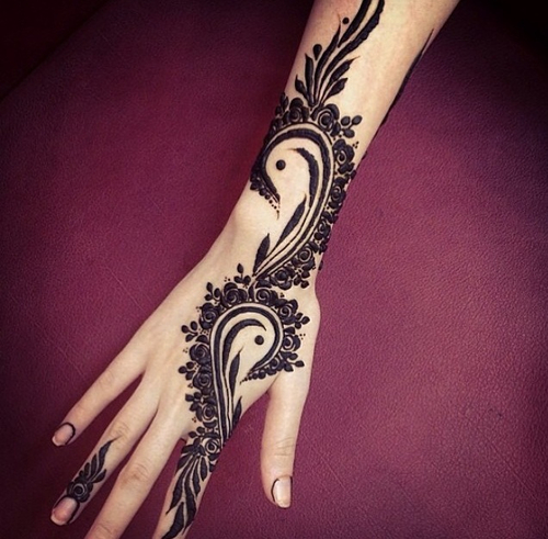 arabic henna mehndi design indian