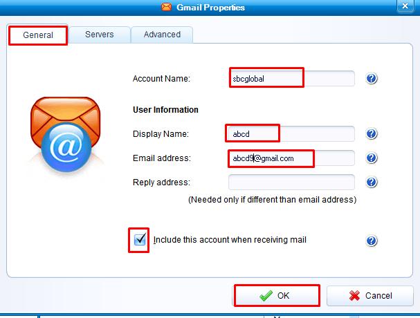 IMAP settings for sbcglobal