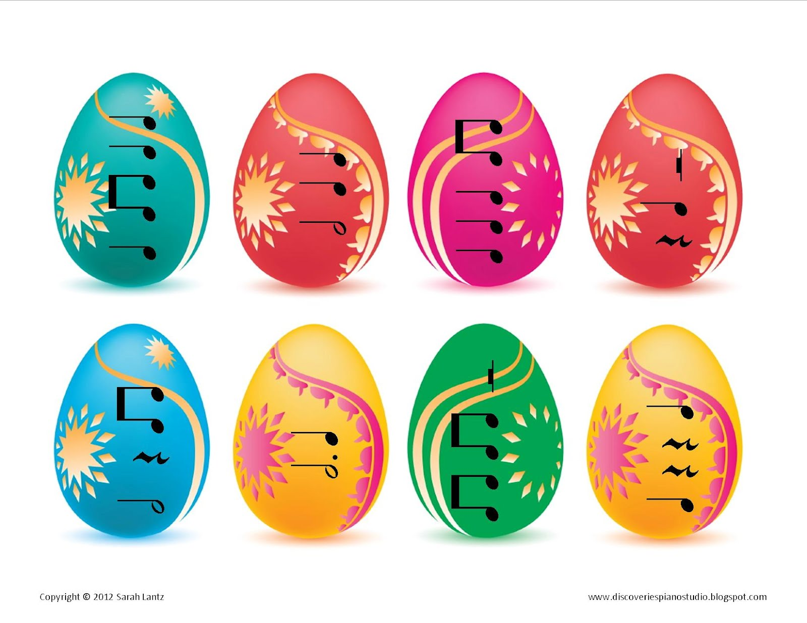 Discoveries Piano Studio Easter Egg Rhythm Sorting Game