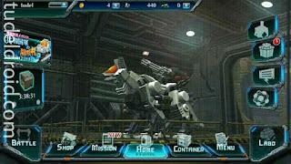 Layar utama game Zoids: Field of Rebellion
