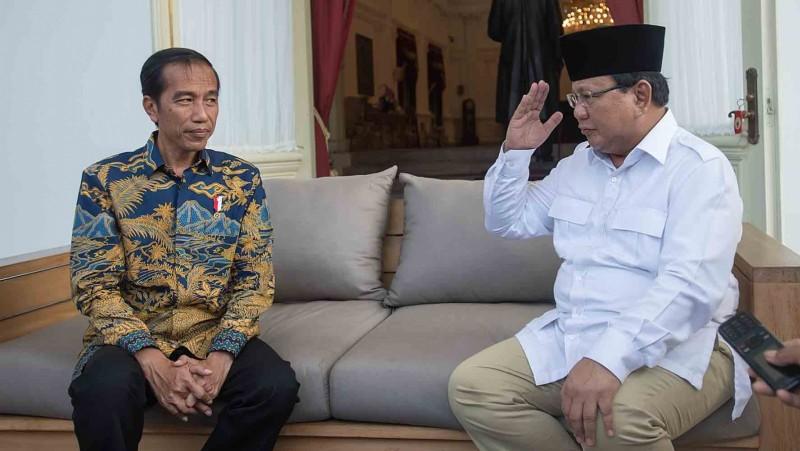 Pertemuan Jokowi dan Prabowo di Istana Merdeka