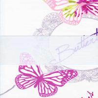 зебра БАБОЧКИ 4096 розовый