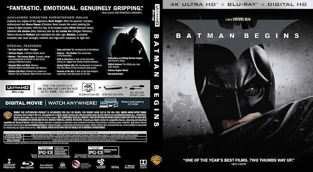Batman Begins 4k Bluray Cover