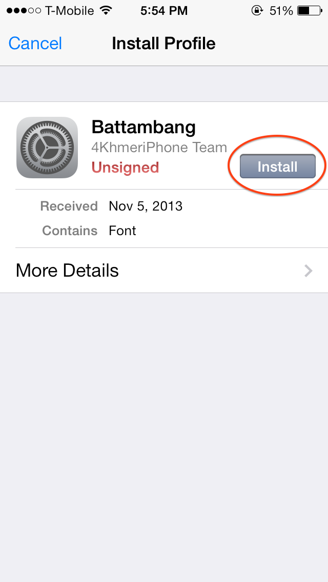 Khmer iPhone Help: How to install khmer font on iOS 7