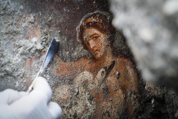O Κύκνος Δίας κάνει έρωτα με τη Βασίλισσα Λήδα - Στο φως μοναδική τοιχογραφία στην Πομπηία
