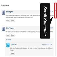Cara Membuat Kotak Scroll Pada Kolom Komentar Di Blog