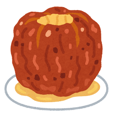 焼きリンゴのイラスト(丸ごと)