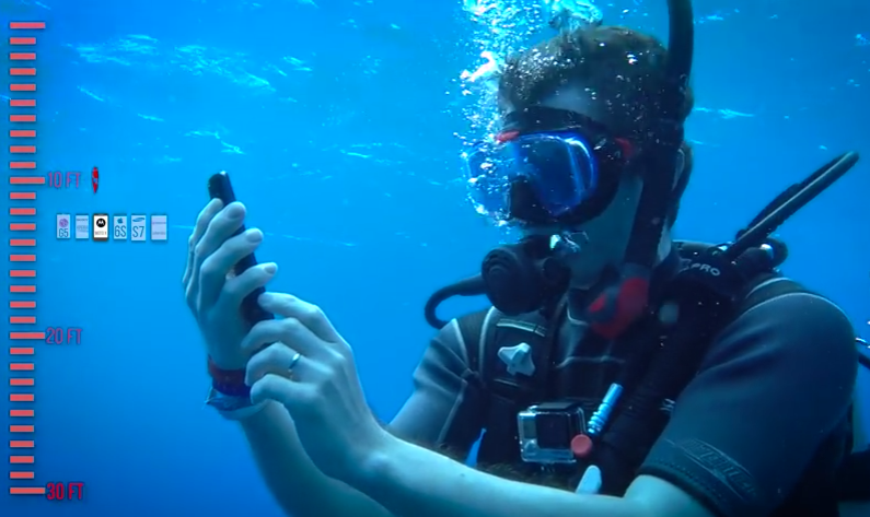 Test di resistenza sott'acqua per 6 smartphone Top di gamma | Video
