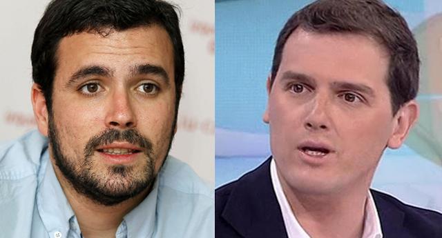 """Alberto Garzón a Albert Rivera: """"solo te interesa el odio y el enfrentamiento entre españoles"""""""