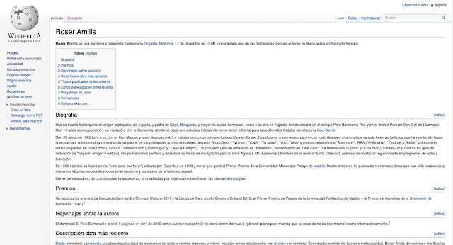Roser Amills en la wikipedia