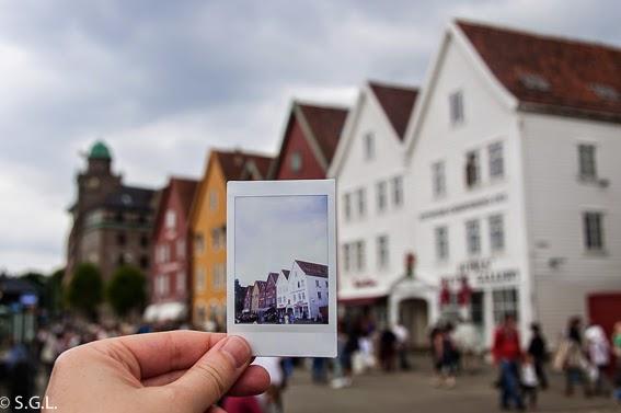 Puerto de Bryggen en Bergen. Patrimonio de la Humanidad