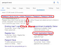 how to track passport online india
