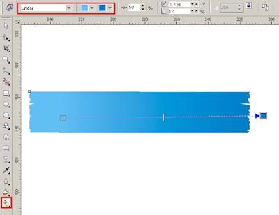 Cara Membuat Desain Cover Buku dengan CorelDRAW X4, warna gradien