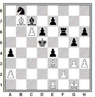 Posición de la partida de ajedrez Sveinsson - Arnarson (Islandia, 2001)