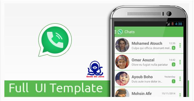 geek on java whatsapp messenger ui template android