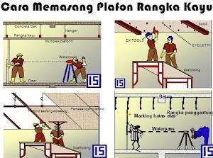 Cara Pemasangan Rangka Plafon Kayu