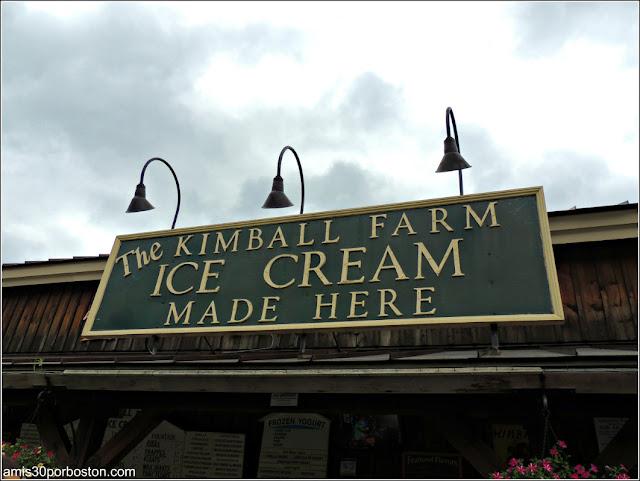 Granjas de Massachusetts: Helados en la Kimball Farm