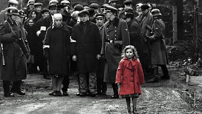 schindler's list girl in red coat