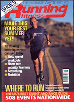magazine cover, running fitness