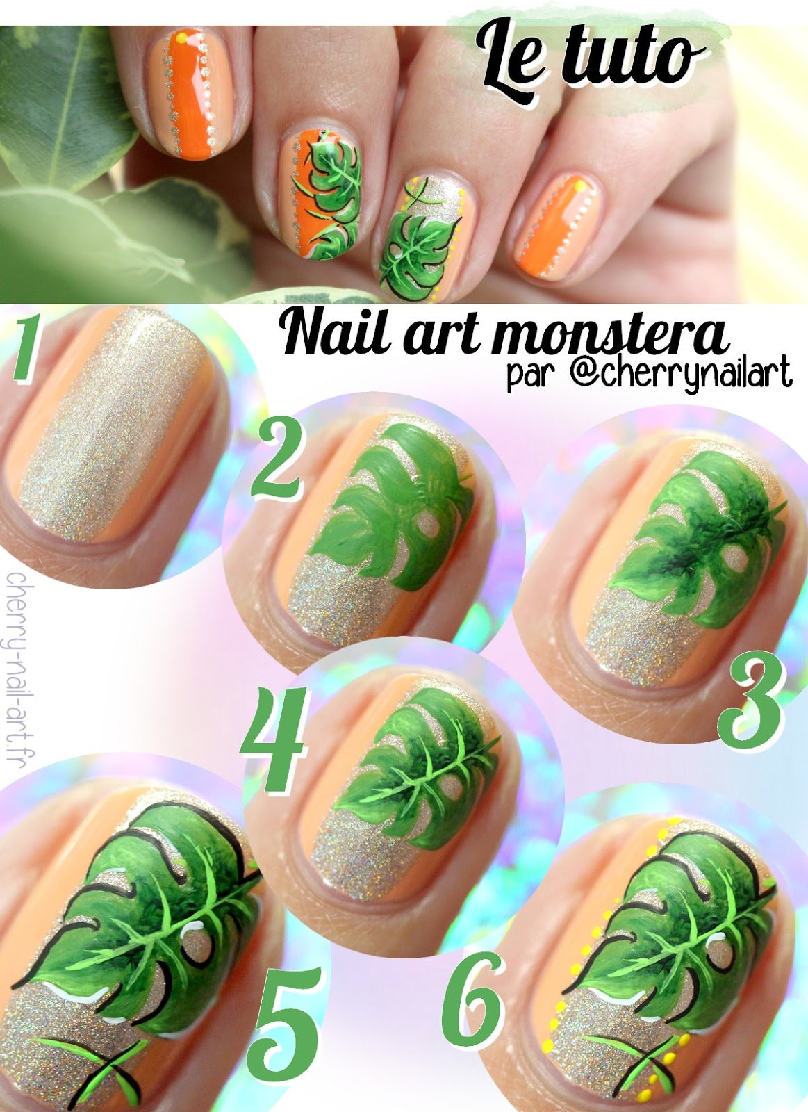 tuto-nail-art-feuille-monstera-jungle