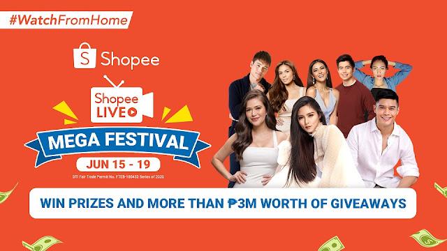 Shopee Kicks Off Shopee Live Mega Festival featuring Kim Chiu, JC de Vera, Bela Padilla, and Marco Gumabao