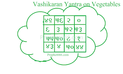 Vashikaran Yantra on Cauliflower Leaves