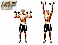 cara memperbesar otot lengan dengan shoulder press