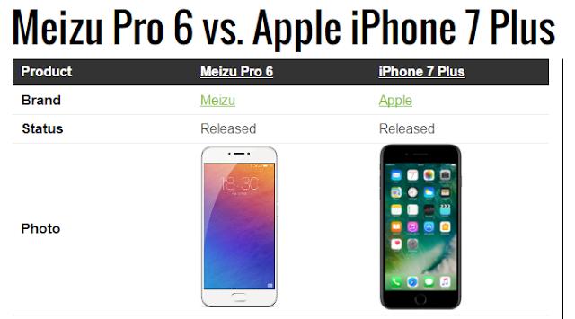 مميزات هاتف iPhone 7 Plus ، مميزات هاتف Meizu PRO 6 Plus