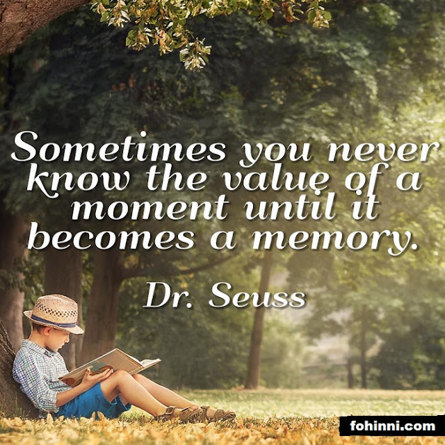 Sometimes You Never Know The Value Of A Moment Until It Becomes A Memory.