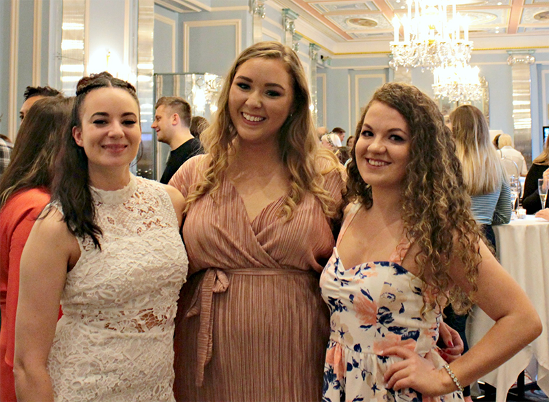 Albertine Brandon (DippyWrites), Sophie Fletcher (Sophie Kathleen) and Elaine Malone (XOmisse) at the #BlogosphereCoverReveal - Blogosphere Magazine Issue 13 with Louise Pentland