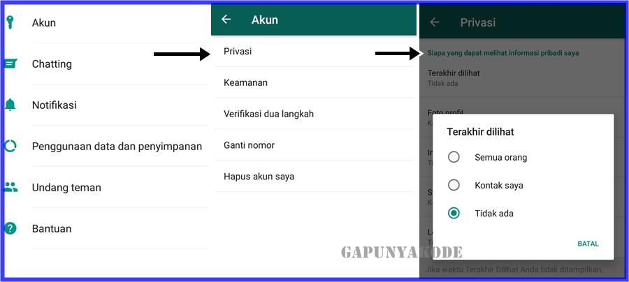 Cara Hilangkan Status Online Wa Whatsapp Tanpa Aplikasi Tambahan Gapunyakode