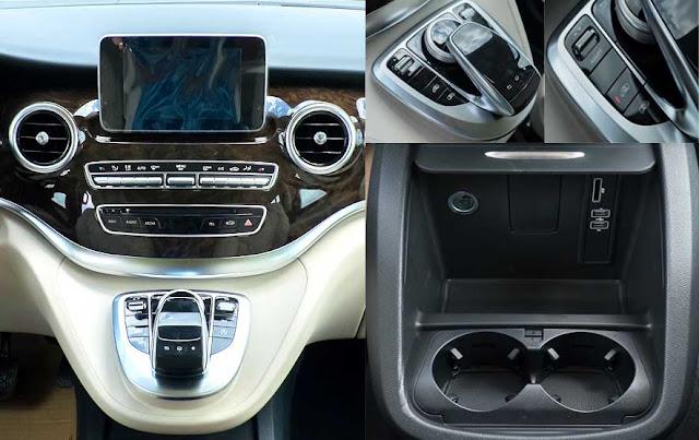 Tựa tay Mercedes V250 Avantgarde 2017 được thiết kế nổi bật với rất nhiều tiện ích