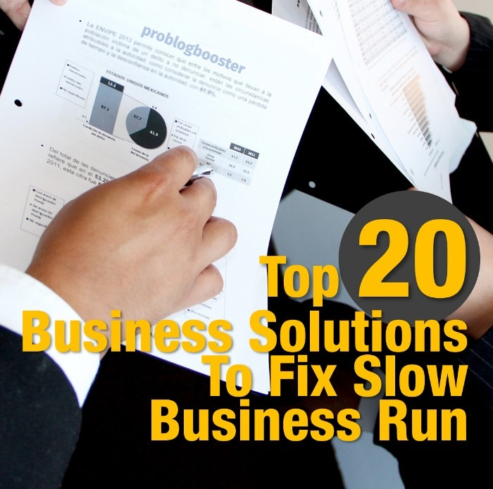 Business Solutions To Fix Slow Business Run