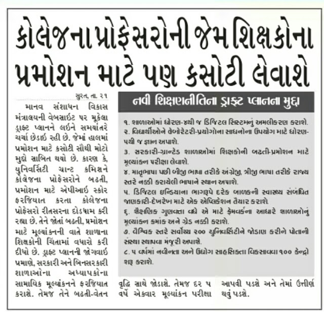 Gujarat Educational News Updates on Date 22-12-2016