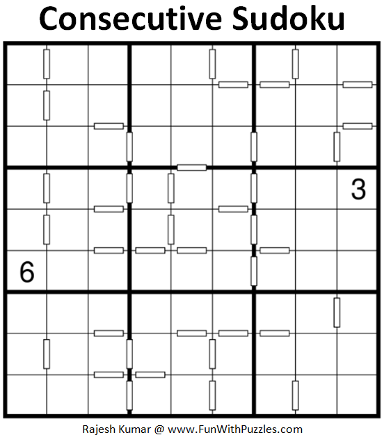 Consecutive Sudoku Puzzle (Daily Sudoku League #205)