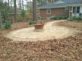 Fire Pit Area and Walkway