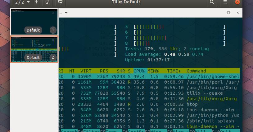 Tilix: The Almost Perfect Tiling GTK+ 3 Terminal Emulator