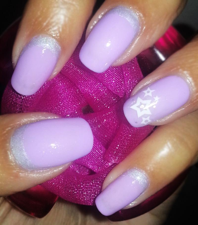 Shellac Neon Lavender nail polish - POLISHorBEAUTY