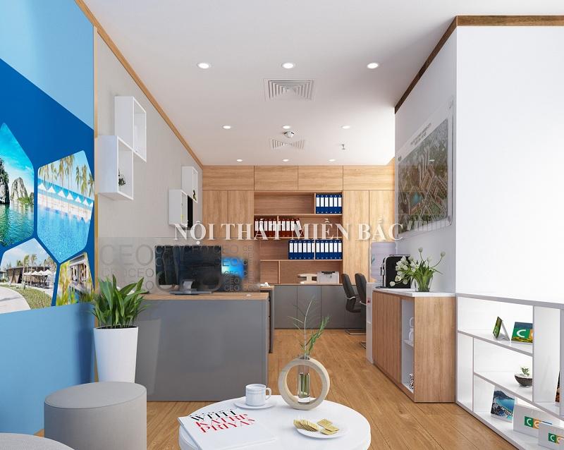 Thiết kế nội thất văn phòng làm việc năng động