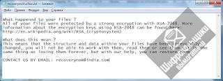 V8Locker Ransomware шифровальщик recoveryinstruction.txt