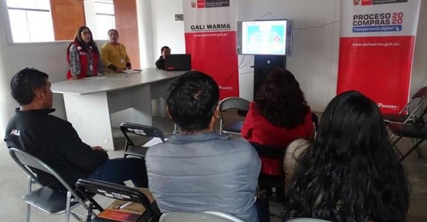 QALI WARMA: Veedores en Áncash listos para el Proceso de Compras Electrónico 2020 - www.qaliwarma.gob.pe
