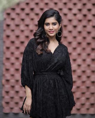 Nabha Natesh Glam Photos in Black HeyAndhra