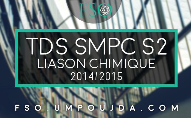 SMPC S2 : TDs Corrigés Liaison Chimique 2014/2015