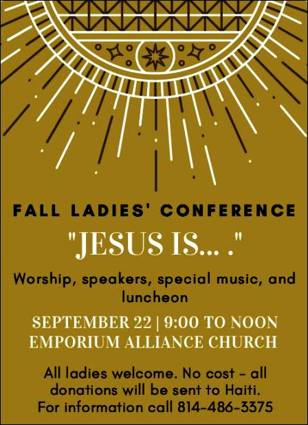 9-22 Fall Ladies' Conference, Emporium
