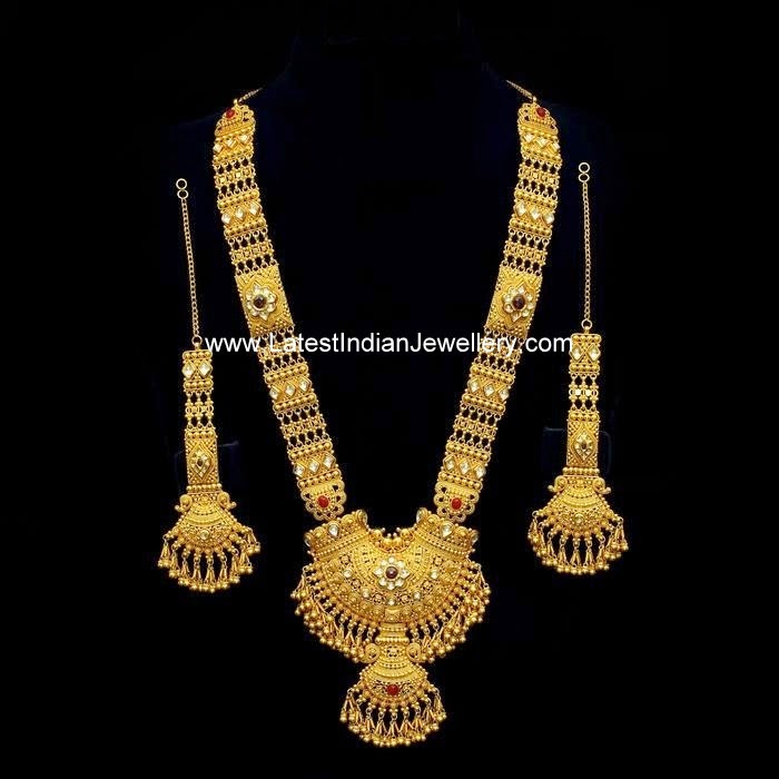 Gold Haram Set with Earchains