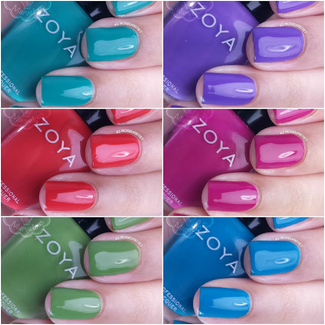 Zoya Island Fun Swatches & Review