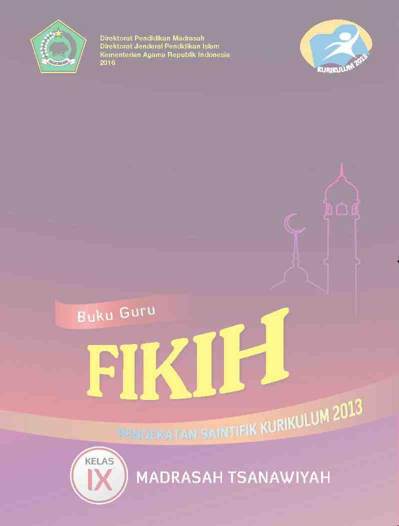 Download Buku Paket Fiqih Untuk Kelas 9 - Berbagi Itu Indah