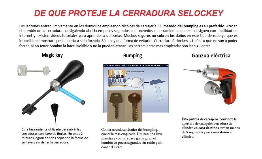 Cerradura alta seguridad 652 665 984 selockey inteligente for Tipos de llaves de puertas