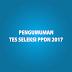 PENGUMUMAN TES SELEKSI PBH 2017